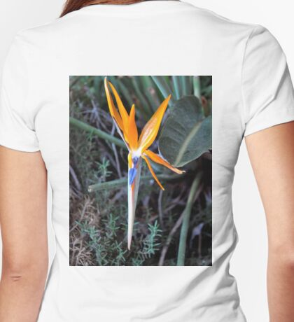 BIRD OF PARADISE IN BLOOM Womens Fitted T-Shirt