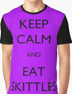 Keep Calm and Eat Skittles Graphic T-Shirt