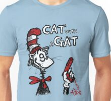 cat with a gat Unisex T-Shirt