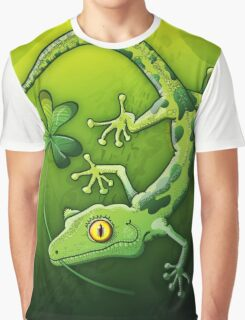 Saint Patrick's Day Gecko Graphic T-Shirt