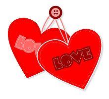 Retro heart design  Photographic Print