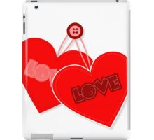 Retro heart design  iPad Case/Skin