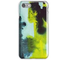 Yellow, Blue, Green Watercolor iPhone Case/Skin