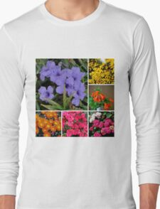 FLORAL COLLAGE MIXED FLOWERS Long Sleeve T-Shirt