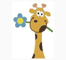FLOWER GIRAFFE Kids Tee