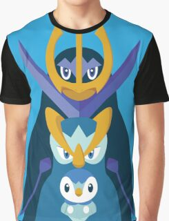 Awkward Penguin Portrait Graphic T-Shirt