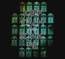 Keep Calm and Sonic Me Mens V-Neck T-Shirt