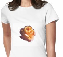 PEACH ROSE WITH YELLOW HIGHLIGHTS Womens Fitted T-Shirt