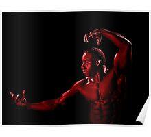 Posing Red Man Poster