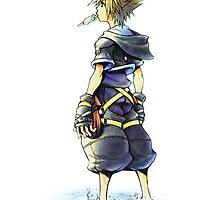 Kingdom Hearts - Sora on beach by realzanime