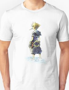 Kingdom Hearts - Sora on beach T-Shirt
