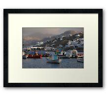 Mykonos Harbor 2 Framed Print