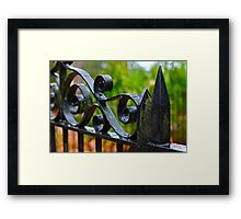 Mossy Wrought Iron Framed Print