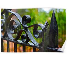 Mossy Wrought Iron Poster