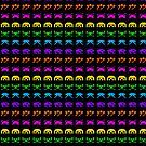 Rainbow Space Invaders by merrypranxter