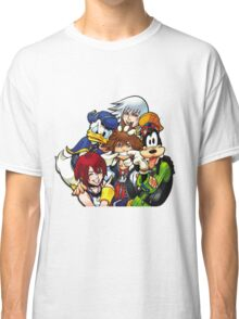 Kingdom Hearts - Sora, Riku, Kairi, Goofy & Donald Classic T-Shirt
