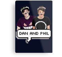Dan and Phil - Flower Text Metal Print