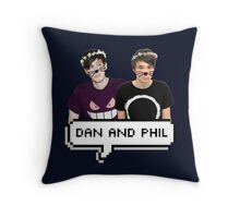 Dan and Phil - Flower Text Throw Pillow