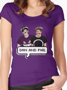 Dan and Phil - Flower Text Women's Fitted Scoop T-Shirt