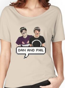 Dan and Phil - Flower Text Women's Relaxed Fit T-Shirt
