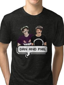 Dan and Phil - Flower Text Tri-blend T-Shirt