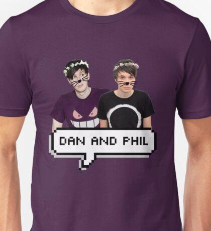 Dan and Phil - Flower Text Unisex T-Shirt