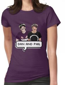 Dan and Phil - Flower Text Womens Fitted T-Shirt