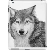 Wolf Sketch in Pencil iPad Case/Skin