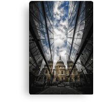 Two worlds and in between Canvas Print