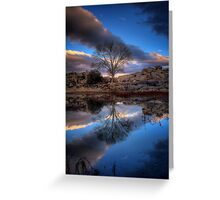 Touching Clouds Greeting Card