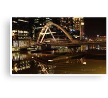 Crown bridge melbourne Canvas Print