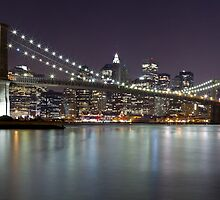 Brooklyn Bridge at Night Panorama 2 by BlackRussian