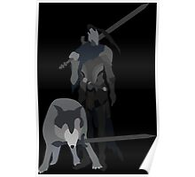 Knight Artorias and the grey wolf Sif Poster