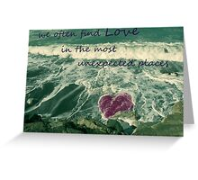 it's there.. waiting to be found Greeting Card