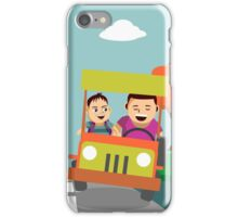 Driving away from the city iPhone Case/Skin