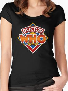Classic Doctor Who Diamond Logo. Women's Fitted Scoop T-Shirt