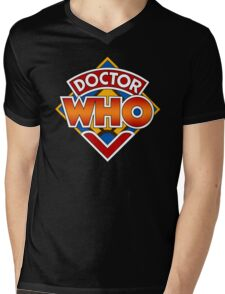 Classic Doctor Who Diamond Logo. Mens V-Neck T-Shirt