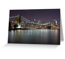 Brooklyn Bridge at Night 2 Greeting Card