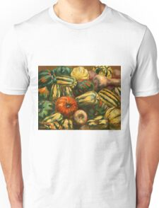 Still life with colorful pumpkins Unisex T-Shirt