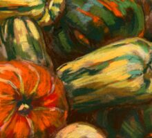 Still life with colorful pumpkins Sticker