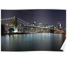 Brooklyn Bridge at Night 5 Poster
