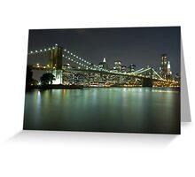 Brooklyn Bridge at Night 6 Greeting Card