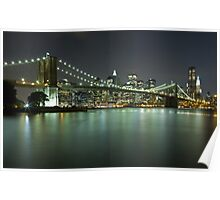 Brooklyn Bridge at Night 6 Poster