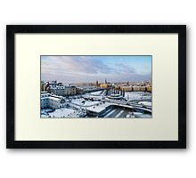 Slussen Winter Wonderland Framed Print