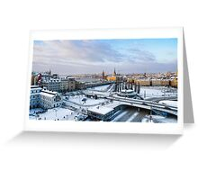 Slussen Winter Wonderland Greeting Card