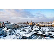Slussen Winter Wonderland Photographic Print