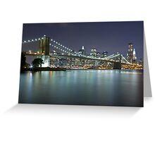 Brooklyn Bridge at Night 7 Greeting Card