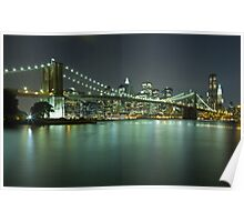 Brooklyn Bridge at Night 8 Poster