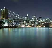 Brooklyn Bridge at Night 9 by BlackRussian