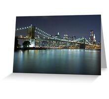 Brooklyn Bridge at Night 9 Greeting Card